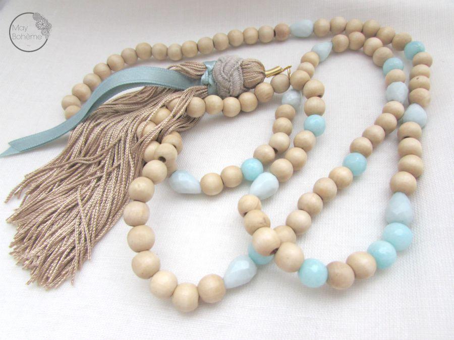 collier fantaisie perles boheme bijoux. Black Bedroom Furniture Sets. Home Design Ideas